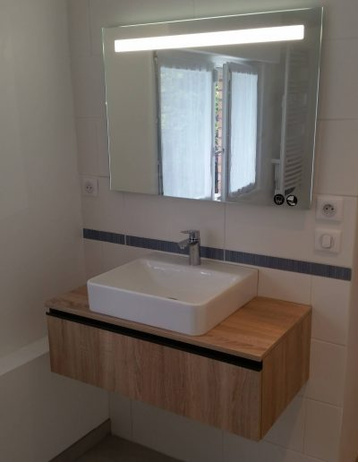 Installation meuble vasque